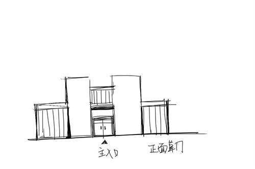 绿色形式建筑手绘思索