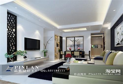 新中式电视背景墙设计图片