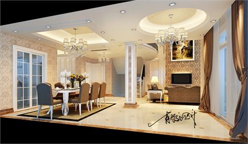 设计风格上采用清新优雅的现代欧式