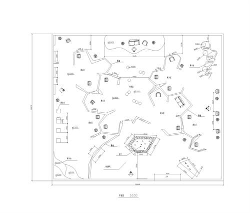 平面图; 家具展示空间设计