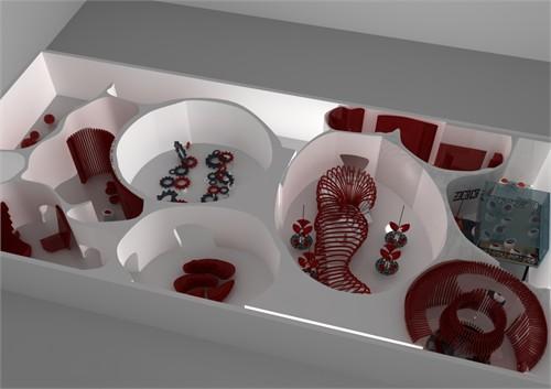 可口可乐展示空间_美国室内设计中文网