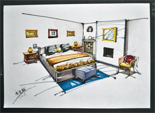 手绘效果图_美国室内设计中文网
