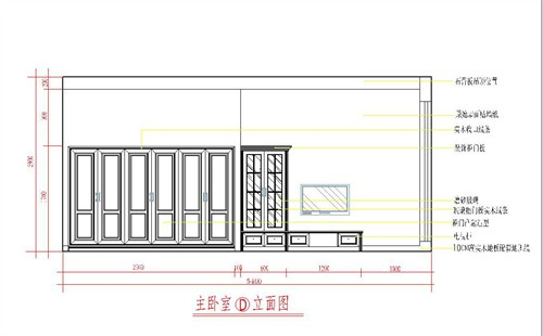 卧室立面图2