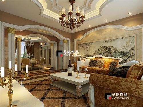 福地豪庭(欧式风格)_美国室内设计中文网
