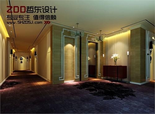 四川梓江商务酒店洗浴设计-酒店客房走廊设计效果图