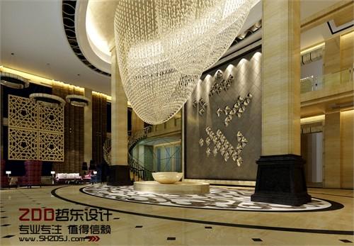 河南周口万里国际五星级酒店大堂设计方案效果图