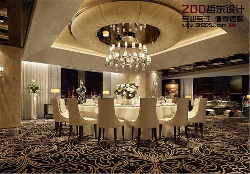 河南周口万里国际五星级酒店豪华餐厅包房设计方案效果图