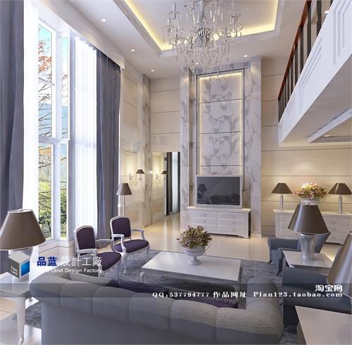 《新古典主义的美艳》别墅设计 装修设计_美国室内