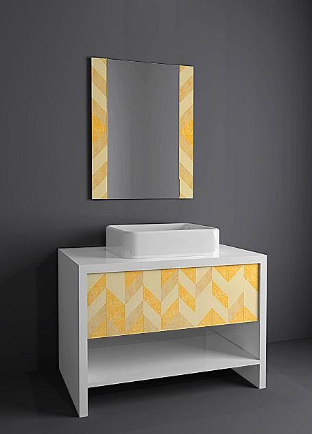 石材浴室柜_美国室内设计中文网