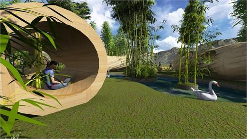 """""""竹""""概念景观设计"""