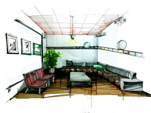 室内办公室手绘效果图