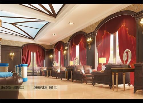 吴峰双——美式古典售楼处_美国室内设计中文网