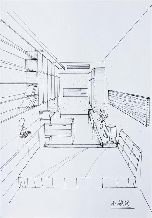 简笔画房子-学生时代的作品
