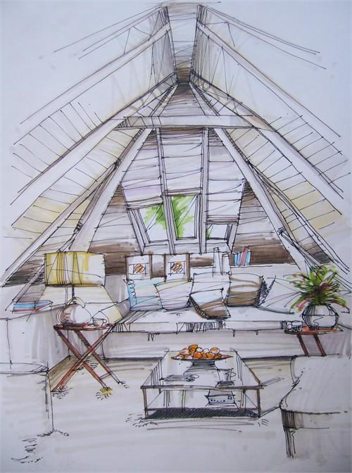 住宅空间手绘作品