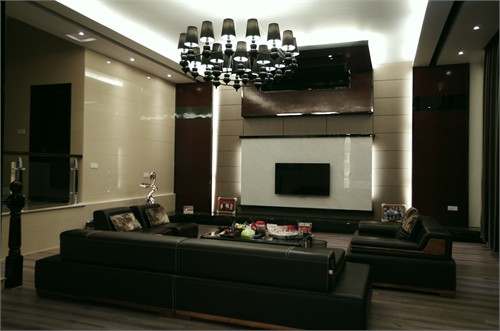 设计中对玄关造型与电视背景墙的造型设计手法的类