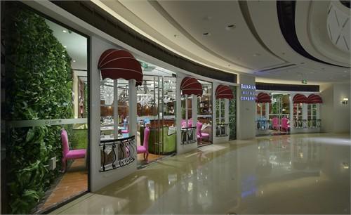 欧式西餐厅工装3d渲染图片