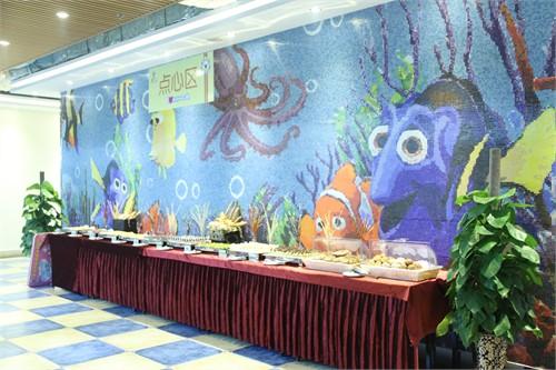 海洋餐厅室内手绘
