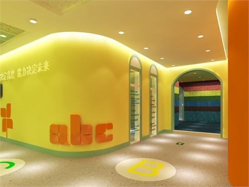 在整个教学环境中,墙体的设计点缀色彩明亮的颜色装饰,把天高清图片