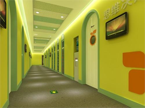 墙体的设计点缀色彩明亮的颜色装饰,把天空云朵的元素放到教高清图片