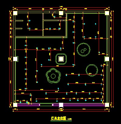 灯具设计手绘平面图