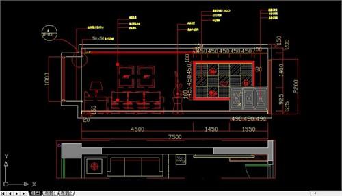 室内家装平面图及立面图