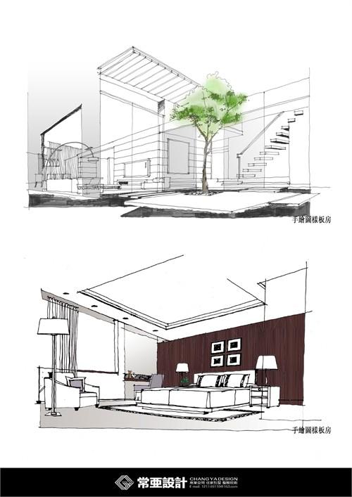 手绘图样板房_美国室内设计中文网