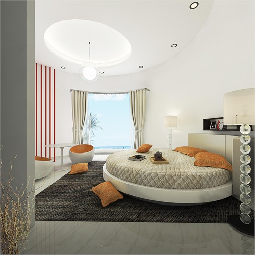 圆形建筑室内效果图