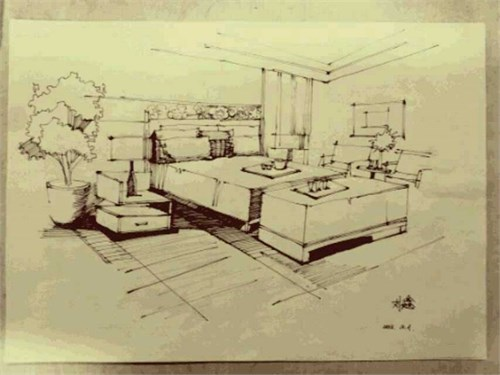 室內效果圖手繪_美國室內設計中文網