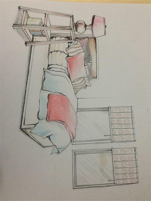 室内手绘练习稿_美国室内设计中文网