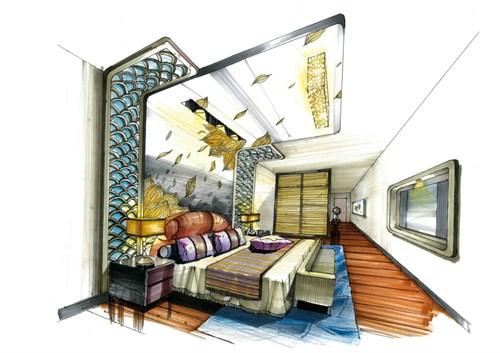 《荷·韵》住宅手绘设计方案