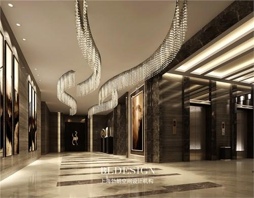郑州专业高端餐厅设计公司-锦荣饭庄餐饮电梯厅设计案例