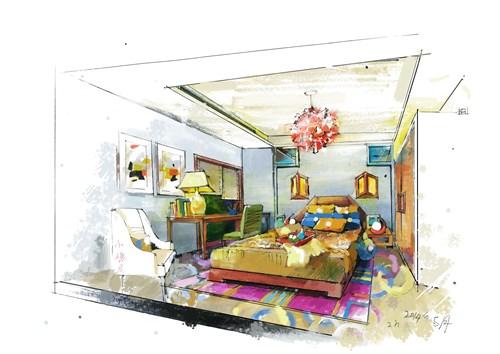 理想中的家手绘图片
