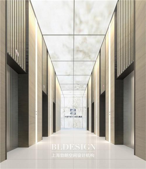中国平煤神马能源集团办公楼设计-一楼大厅电梯厅设计 河南郑州最好的