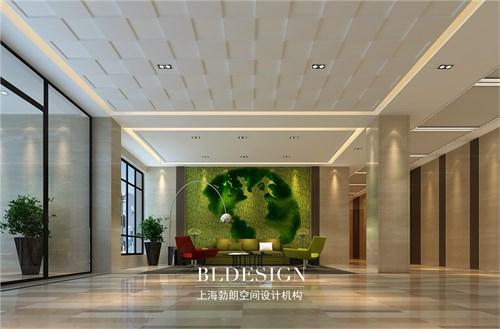 重庆宜筑现代时尚办公楼大厅背景墙设计方案