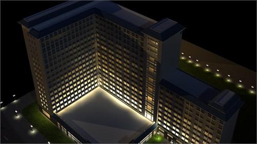 陕西理工学院/陕西理工学院3D建筑动画13号楼