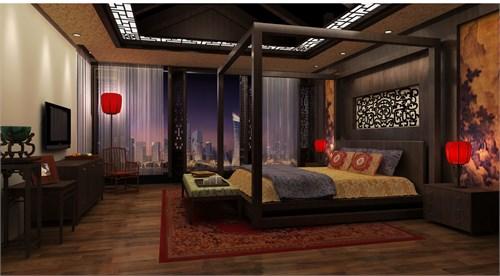 中式卧室_美国室内设计中文网