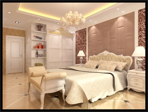 局部配以拱形造型凸显欧式风格的魅力,以白色家具为主显得高雅,配以红