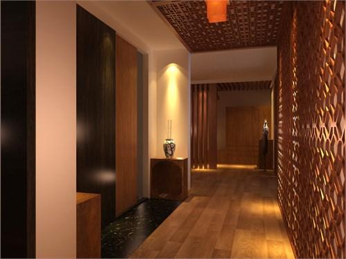 所以我认为木材是最能表现和最适合表现新中式风格设计的材料.图片