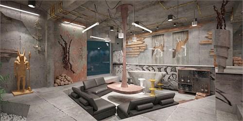 水泥房子室内装修图