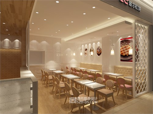 pearl waffle甜品店室内设计
