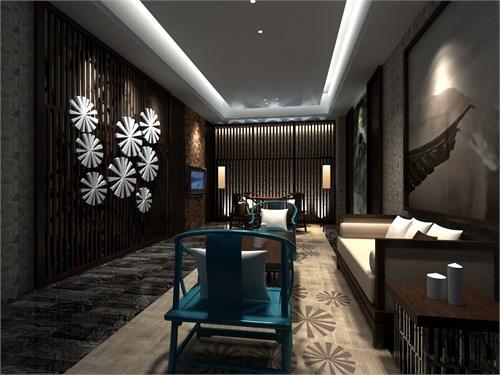 新中式茶艺会所_美国室内设计中文网