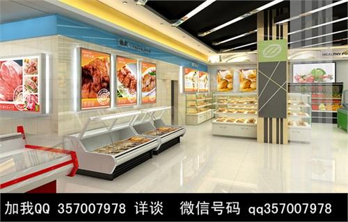 超市室内装修效果图 超市效果图 超市装修设计效果图 商场效高清图片