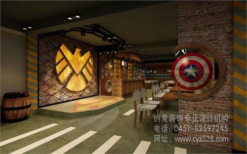 哈尔滨主题烧烤店装修设计_美国室内设计中文网