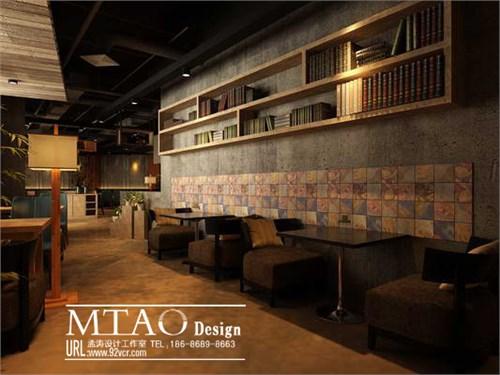 哈尔滨咖啡厅效果图设计-星巴克漫咖啡风格