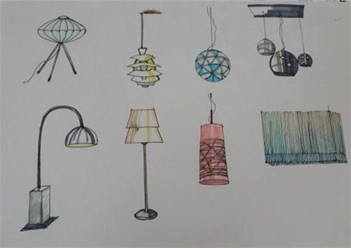 各种灯具手绘