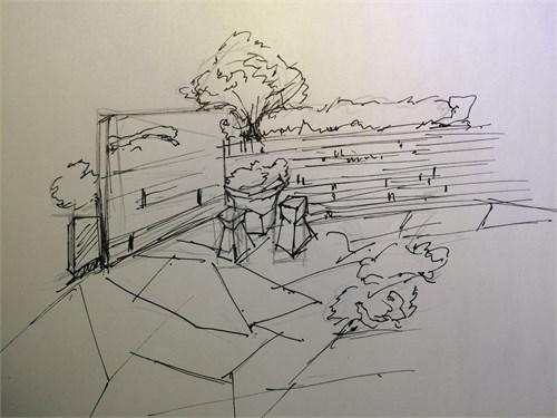 美丽的校园一角简笔画分享展示