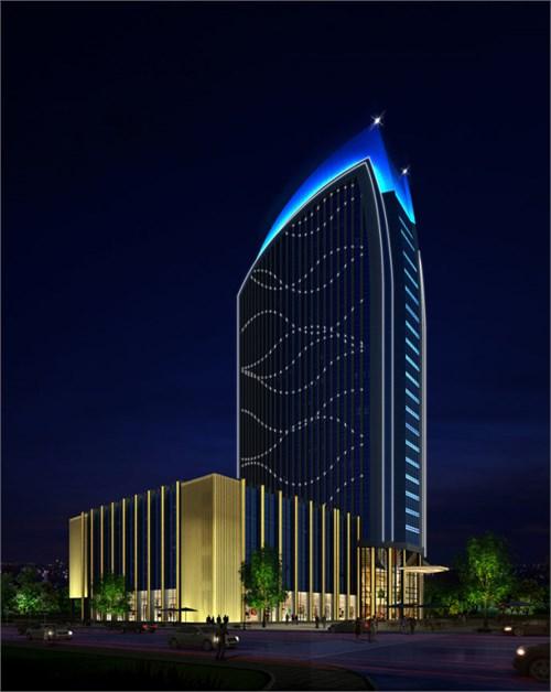 建筑泛光照明设计,楼体亮化设计,办公室照明设计,商业综合体照明亮化