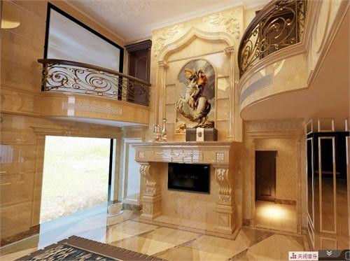 入户采用欧式经典的廊道设计