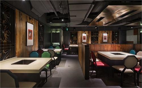 欧式餐厅吊顶石板拉斜缝计算图
