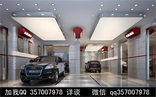 汽车4s店设计案例效果图高清图片